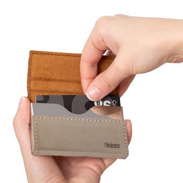 Mini portofel-portcard Hedonism-bej