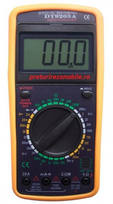 Multimetru digital DT 9205A de la Preturi Rezonabile