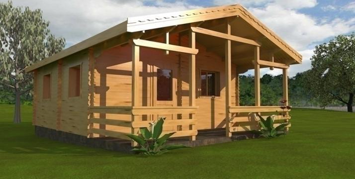 Casa de vara din lemn Nizza A de la Korondi Arcso Srl