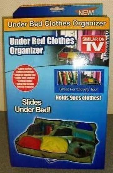 Organizator pentru haine Under Bed Clothes Organizer de la Www.oferteshop.ro - Cadouri Online