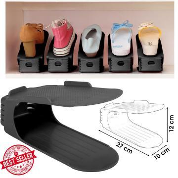 Organizator plastic pentru pantofi - negru de la Plasma Trade Srl (happymax.ro)