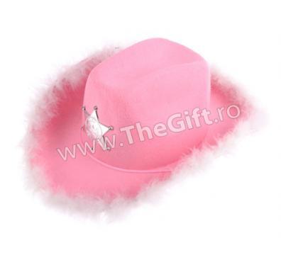 Palarie roz Doamna Sheriff