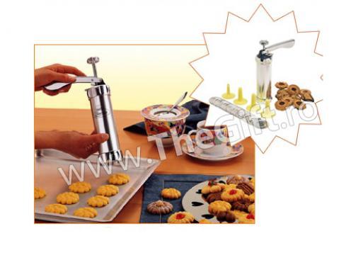 Presa din inox pentru biscuiti si fursecuri
