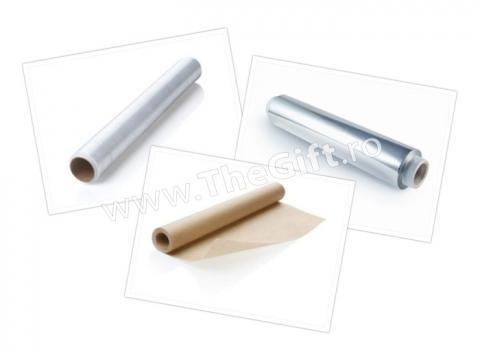 Set 3 folii, de aluminiu, transparenta si hartie de copt de la Thegift.ro - Cadouri Online