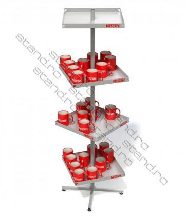 Stand expozitor cu rafturi rotative 0932
