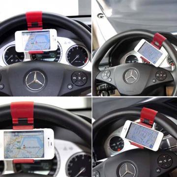 Suport auto telefon universal cu prindere pe volan de la Www.oferteshop.ro - Cadouri Online