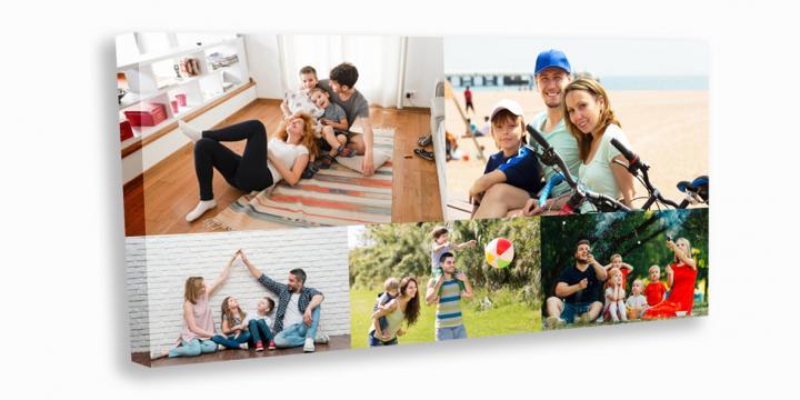 Tablou canvas colaj 100x50cm de la Alconcept Product SRL