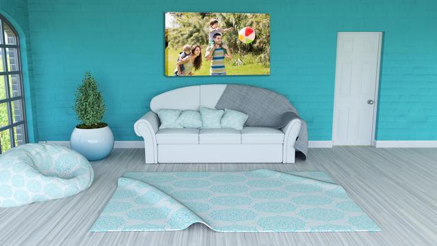 Tablou canvas personalizat dreptunghi de la Alconcept Product SRL