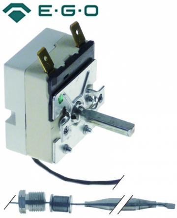 Termostat reglabil 94-190*C, 1NO, 16A, bulb 6mm x 94mm