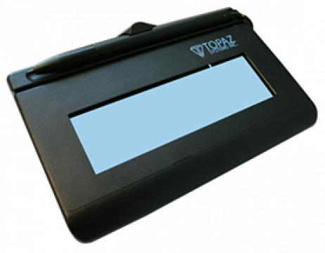 Dispozitiv semnatura Topaz SigLite LCD 1x5, T-L460-HSB-R de la Access Data Media Service Srl