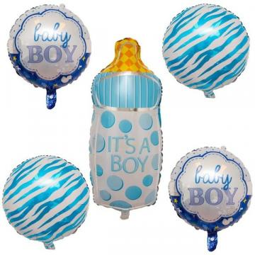 Set 5 Baloane folie figurine pentru baietel la botez de la Startreduceri Exclusive Online Srl - Magazin Online - Cadour