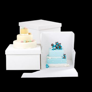 Cutii albe tort 30x30x30cm 10 buc/set de la Cristian Food Industry Srl.