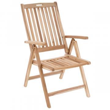 Scaun pentru terasa pliabil din lemn de Teak impregnat 6P