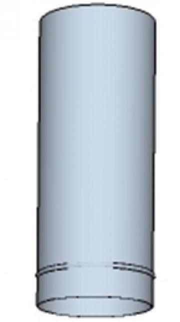 Tub rotund din otel inoxidabil 450 500mm de la Ventdepot Srl