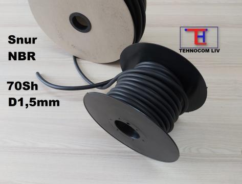 Snur cauciuc rotund NBR D1.5mm de la Tehnocom Liv Rezistente Electrice, Etansari Mecanice