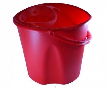 Galeata pentru mop, cu storcator 12 litri de la Medaz Life Consum Srl