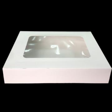 Cutie alba carton cu fereastra 19x19x6,5cm, 25 buc/set de la Cristian Food Industry Srl.