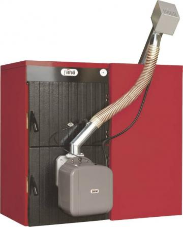 Cazan mixt lemn/pelet Ferroli Sunpellet 4, 30kW de la Axa Industries Srl