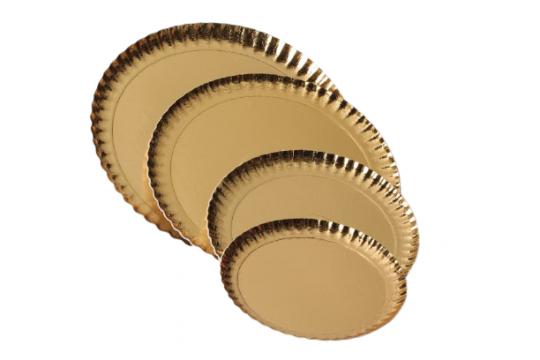 Farfurii groase carton auriu 30cm de la Cristian Food Industry Srl.