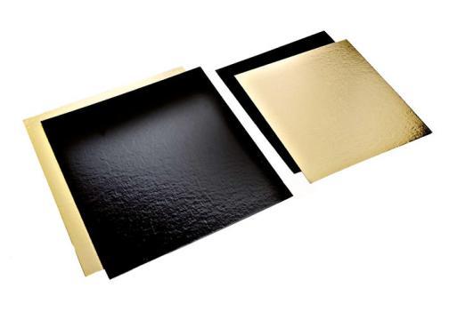 Planseta dreapta auriu/negru 18,5x18,5cm de la Cristian Food Industry Srl.