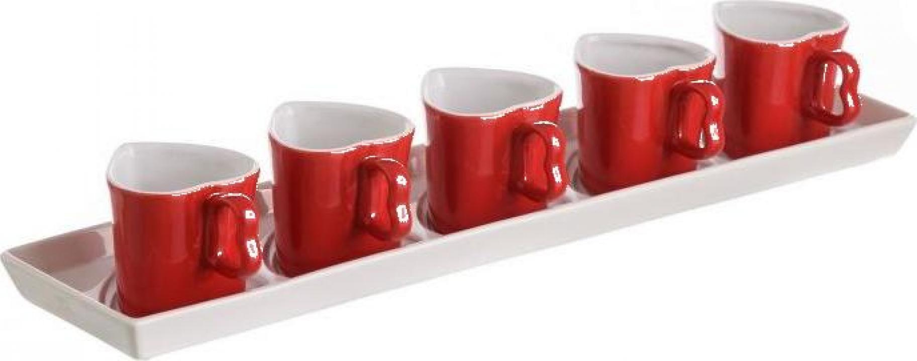 Set 5 cani cafea Inima