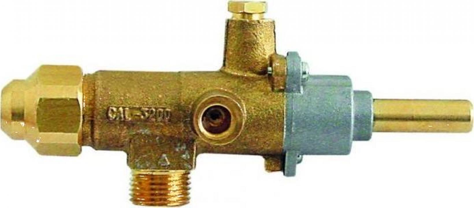Robinet de gaz Copreci CAL-3200, intrare gaz M18x1.5