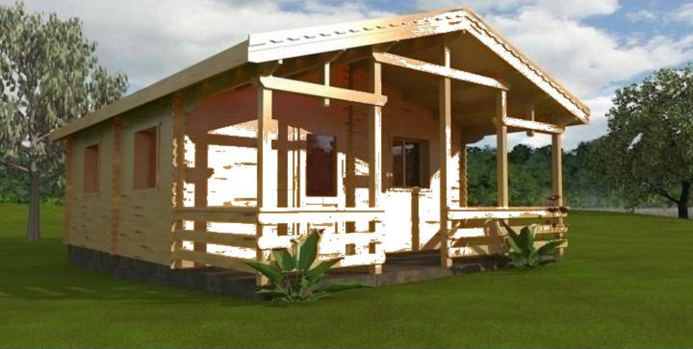 Casa de vacanta din lemn Nizza A izolat