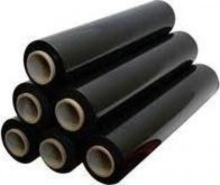Folie stretch neagra, 1.4kg NET, 23microni, 500mm