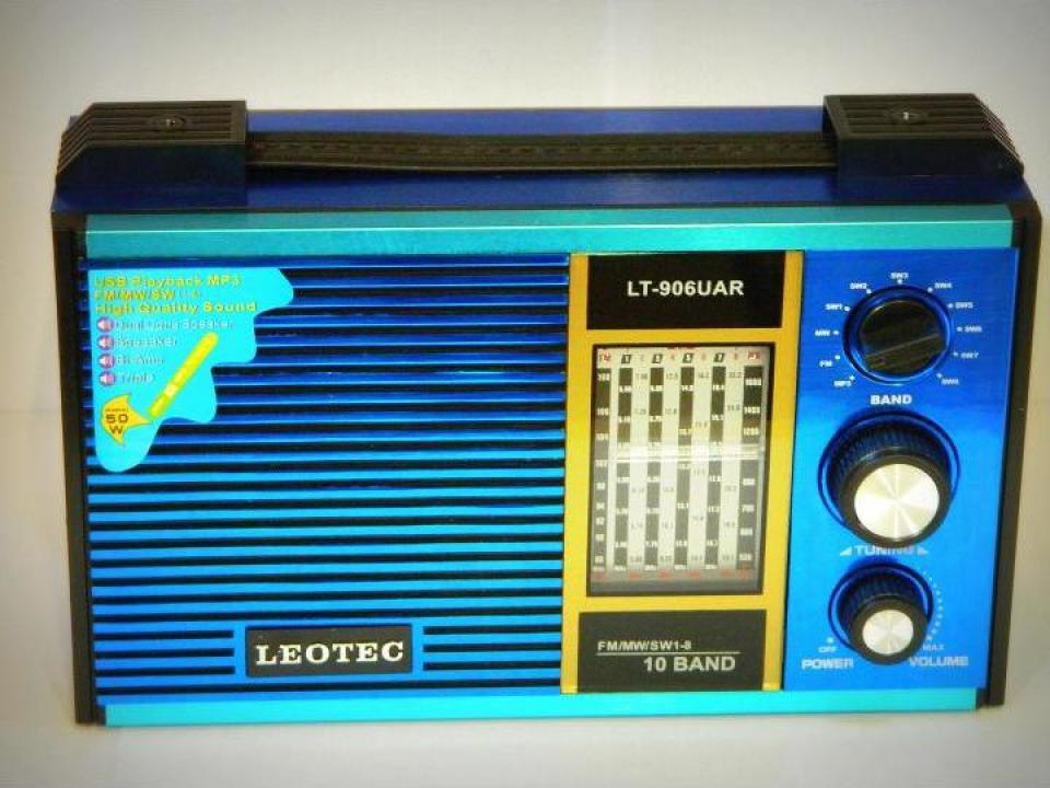 Radio MP3 portabil Leotec LT-906UAR World Receiver
