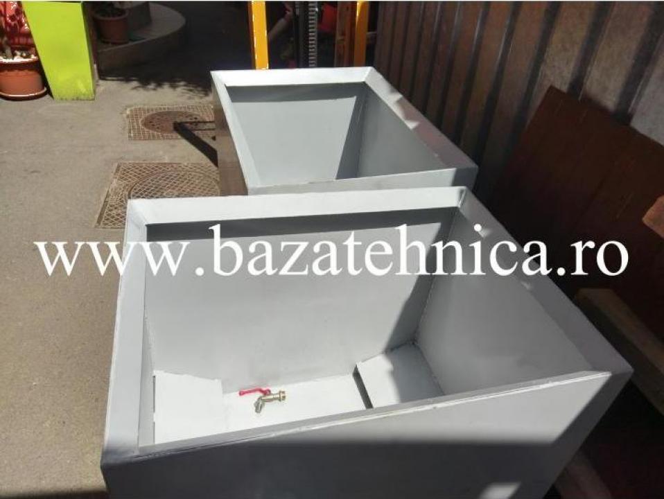 Container pentru span, pulberi metalice 600x800x h700 mm