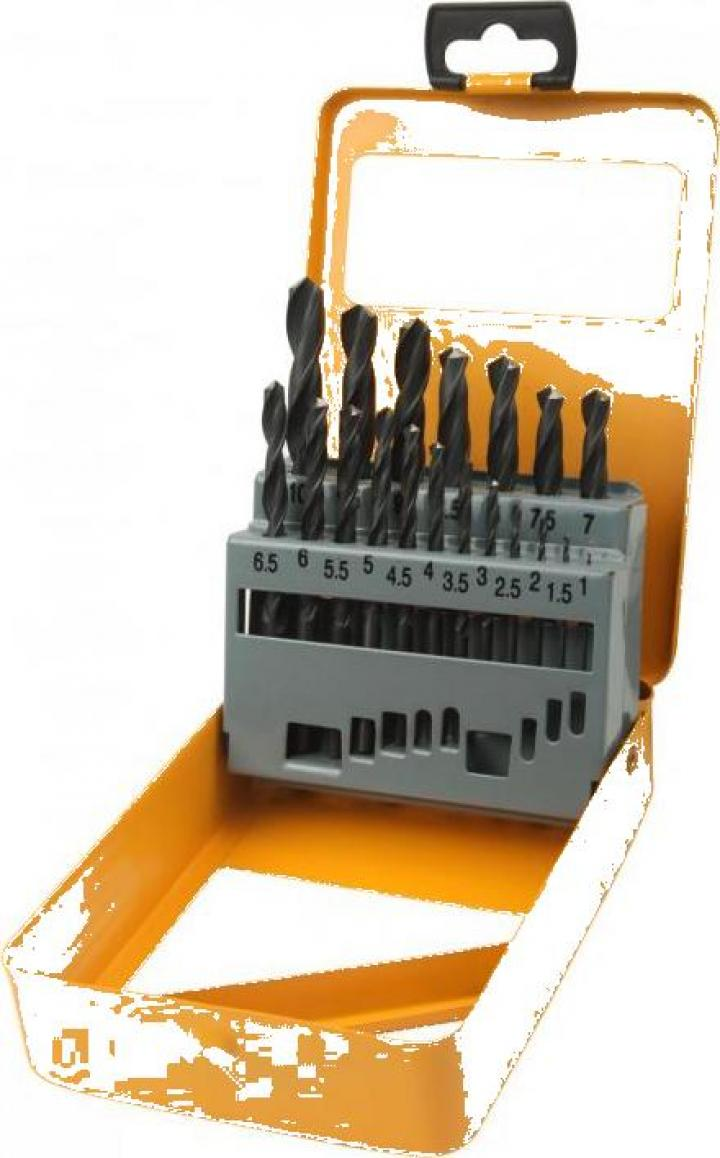 Set de 19 burghie HSS 1-10 mm