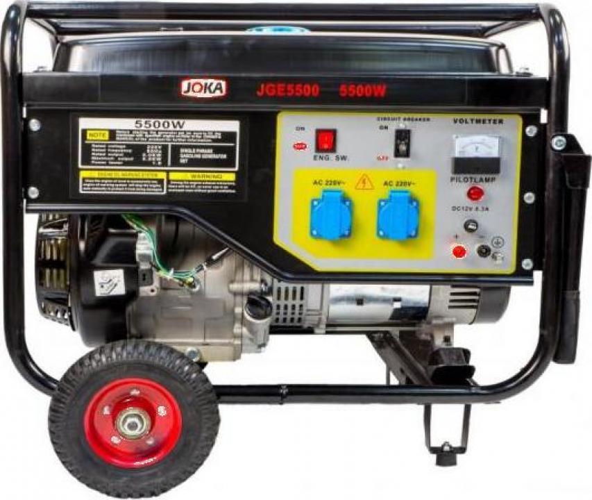 Generator pe benzina Joka 5500W trifazat autonomie 10 ore