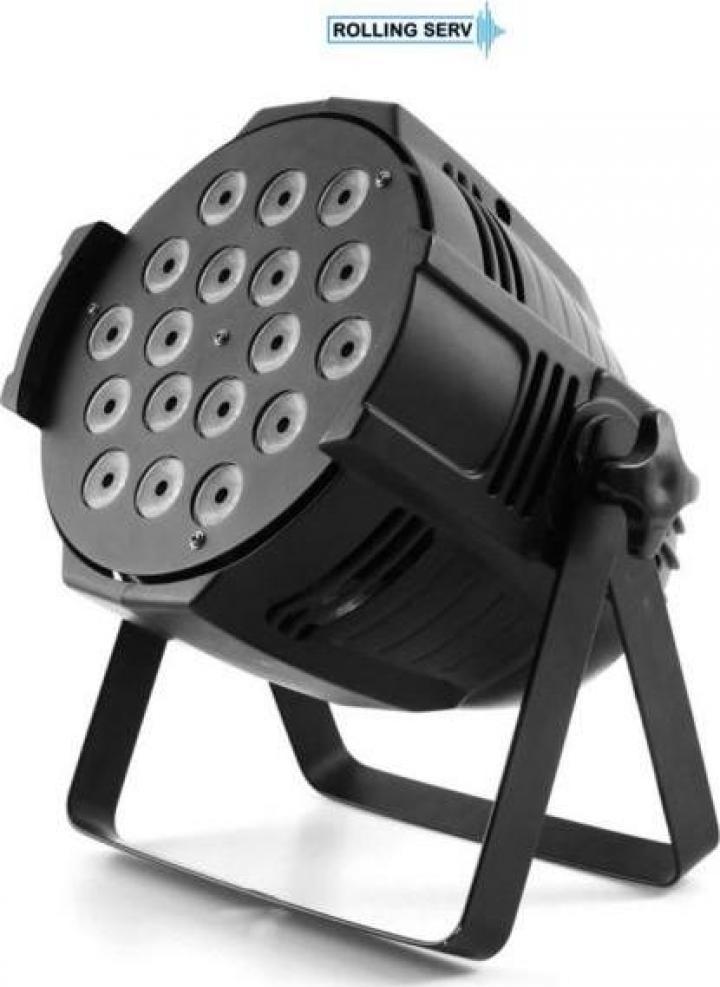 Proiector LED PAR 64 18x15W RGBWA 5in1