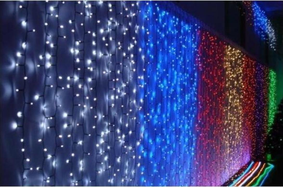 Instalatii de Craciun exterior perdea cu 1120 LED-uri 6x3m