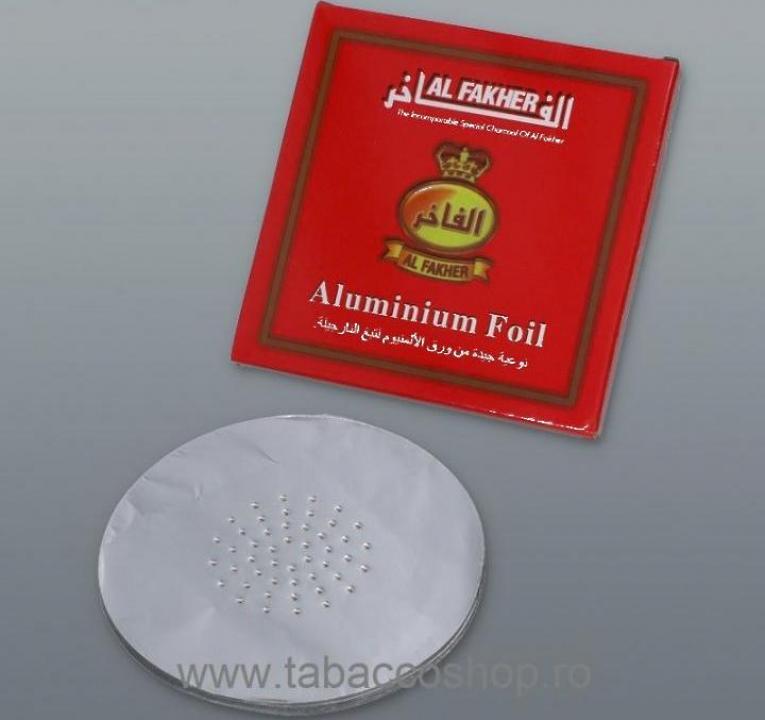 Folii aluminiu Al Fakher pentru narghilea 45buc