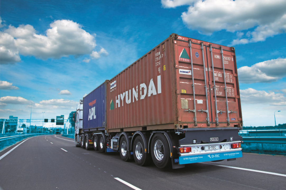 Semiremorca multi sasiu transport containere Combitrailer