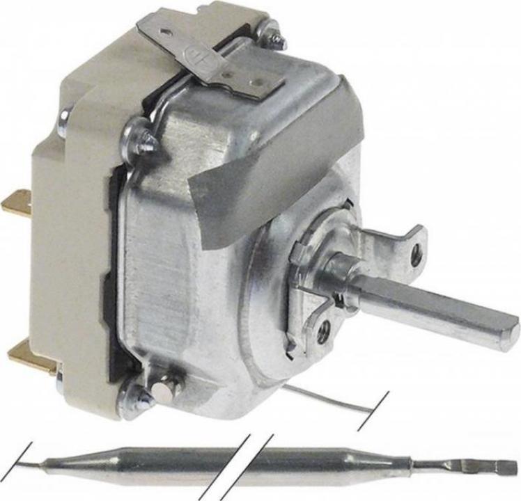 Termostat reglabil 30-93C, 3NO, 16A, bulb 6mmx129mm