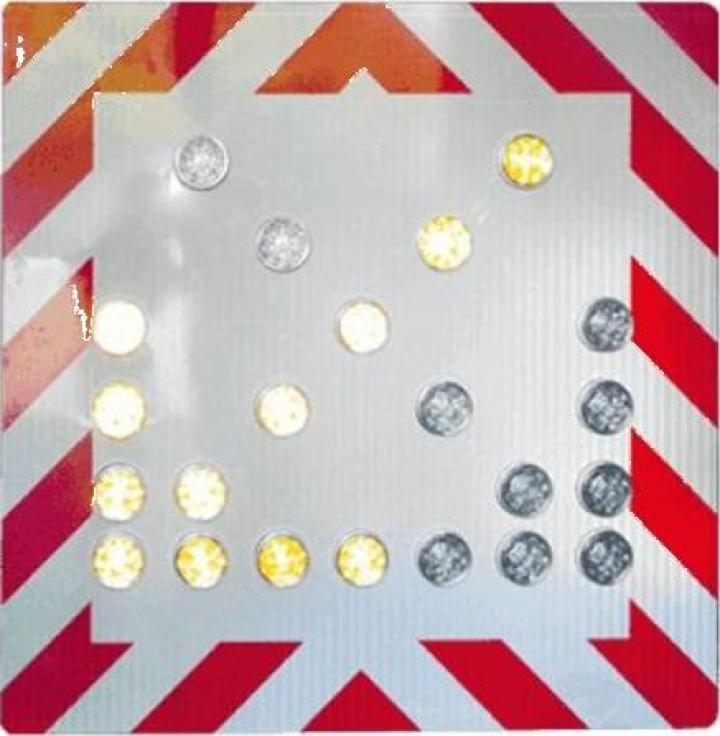 Panou rutier cu semnalizare luminoasa prin led-uri