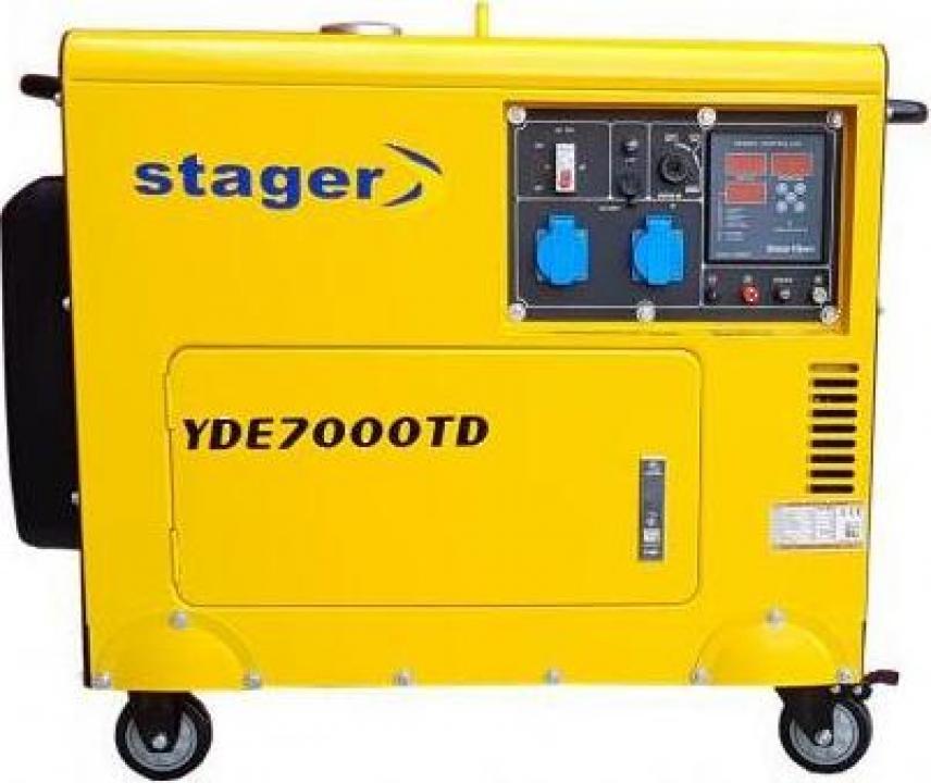 Generator de curent cu pornire electrica YDE7000TD Stager
