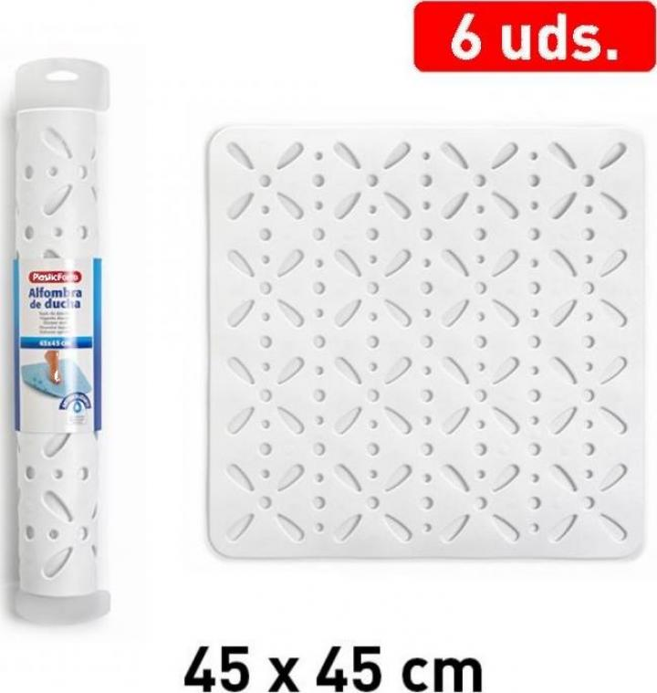 Covoras plastic baie 45 x 45 cm - alb