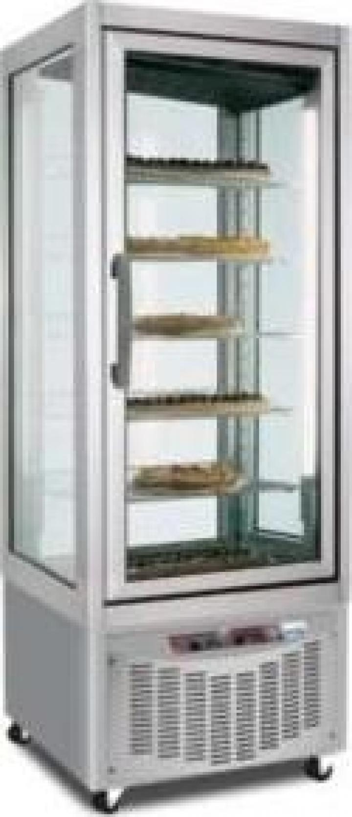 Vitrina verticala cofetarie / gelaterie toate fetele vitrate
