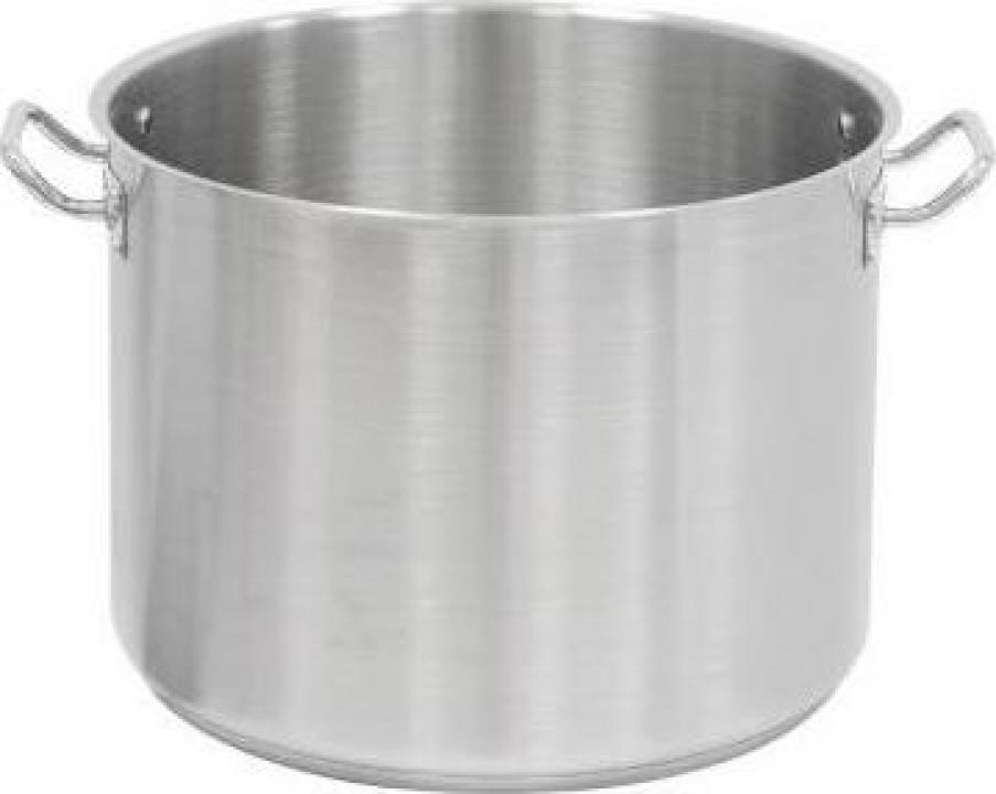 Cratita inox inalta - semioala - fara capac 7.2 litri