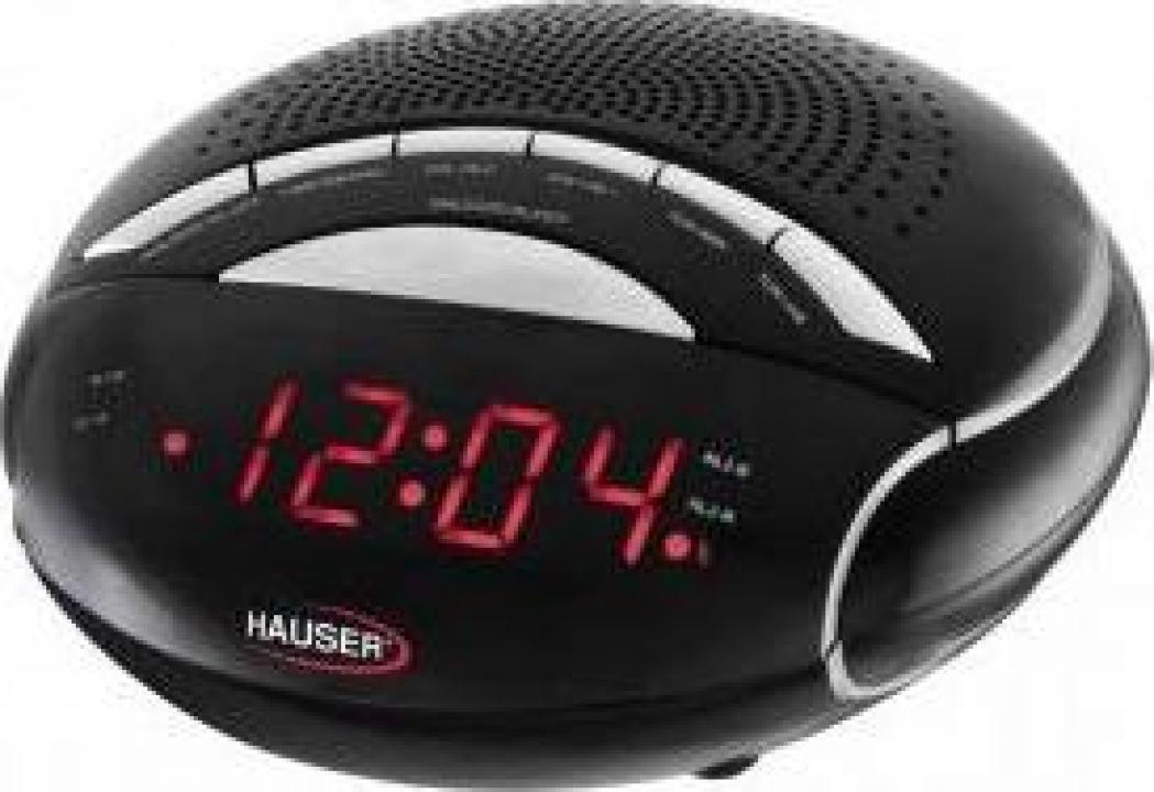 Ceas digital cu radio si desteptator, Hauser CL-8024