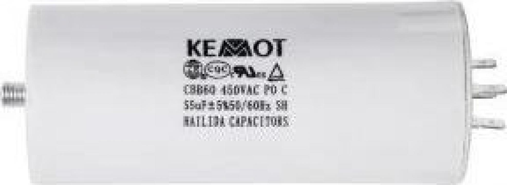 Condensator motor Kemot URZ3138, surub, 50UF 450V