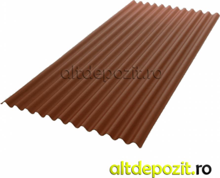 Placa ondulata bituminoasa maro