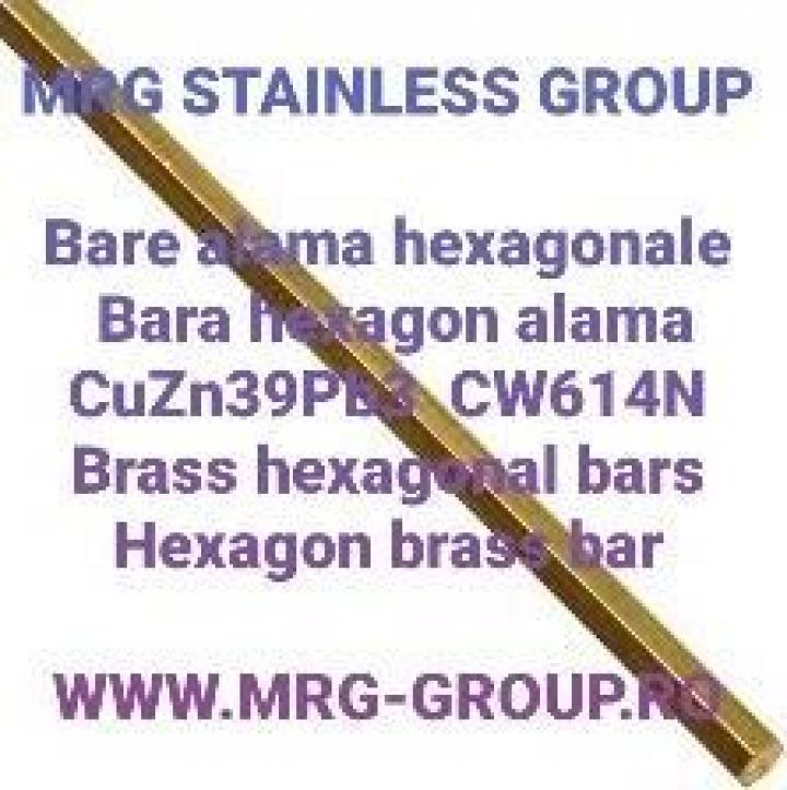 Bara alama hexagonala 5mm hexagon alama CuZn39Pb3 cupru inox