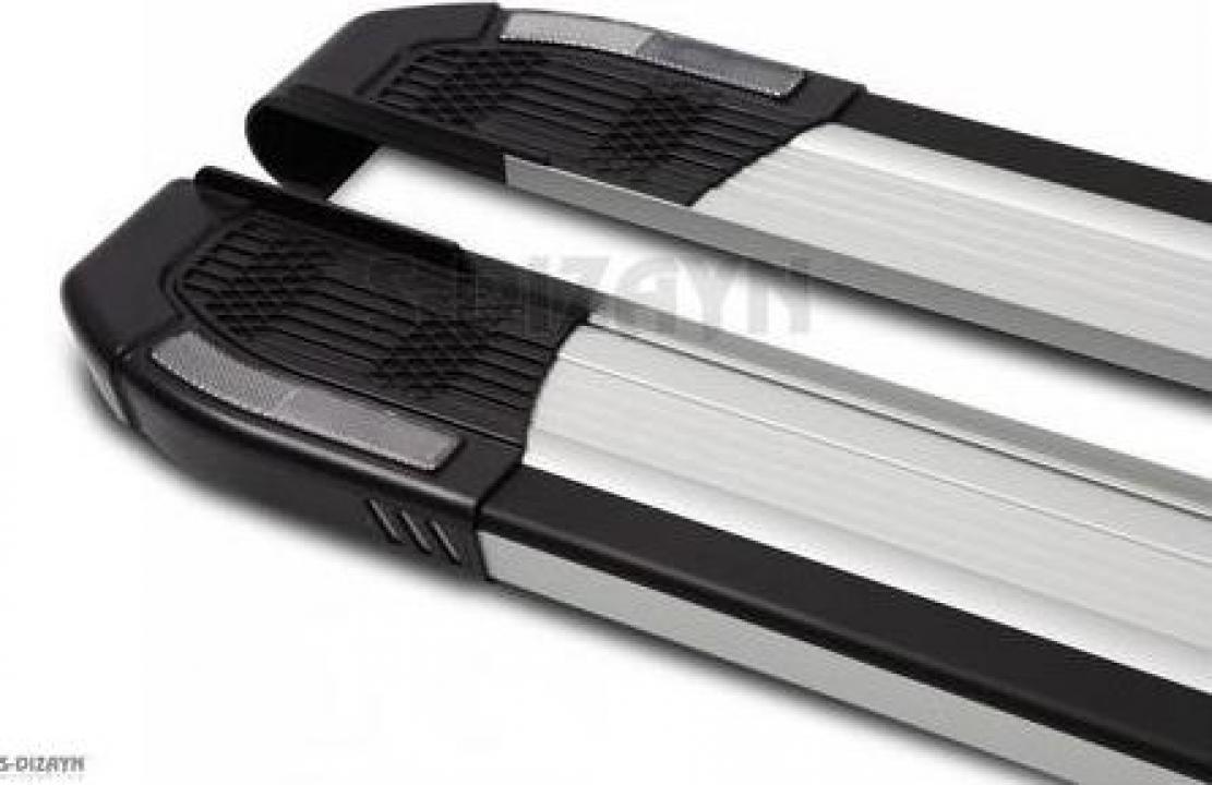 Praguri laterale aluminiu Fiat Doblo 2010-