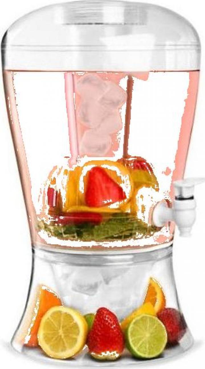 Dozator pentru bauturi cu cilindru de racire si robinet