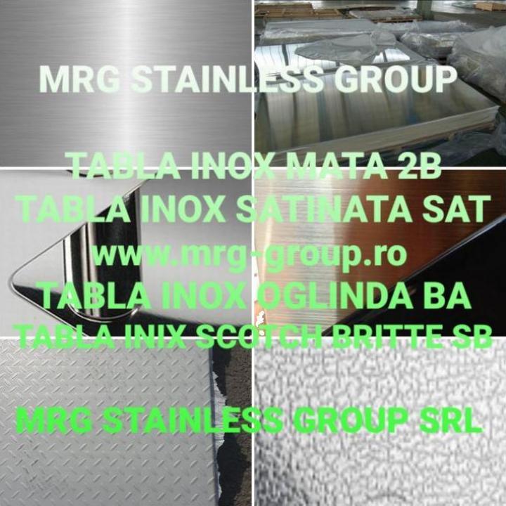 Tabla inox 2mm otel inoxidabil 2B, inox BA, inox SAT inox SB