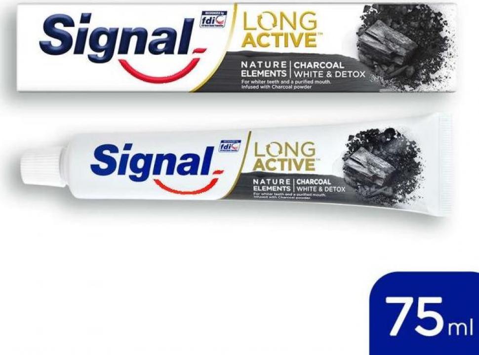 Pasta de dinti Signal Nature Elements cu carbune activ 75ml